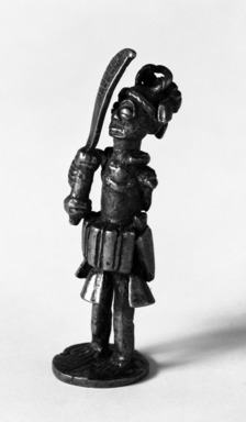 <em>Figure of a Warrior</em>. Cast bronze Brooklyn Museum, Gift of Merton D. Simpson to the Jennie Simpson Educational Collection of African Art, 70.73.5. Creative Commons-BY (Photo: Brooklyn Museum, 70.73.5_bw.jpg)