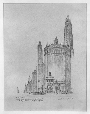 Gerald K. Geerlings (American, 1897-1998). <em>The Vertical Mile</em>, 1930. Graphite on paper, Sheet: 8 1/8 x 6 in. (20.6 x 15.2 cm). Brooklyn Museum, Gift in memory of Clarence John Marsman, 70.75.28 (Photo: Brooklyn Museum, 70.75.28_bw.jpg)
