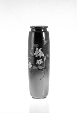 William Purcell McDonald. <em>Vase</em>, ca. 1891. Glazed earthenware, 11 1/2 x 2 7/8 in. (29.2 x 7.3 cm). Brooklyn Museum, Gift of Mrs. James C. Warren, 70.94. Creative Commons-BY (Photo: Brooklyn Museum, 70.94_bw.jpg)