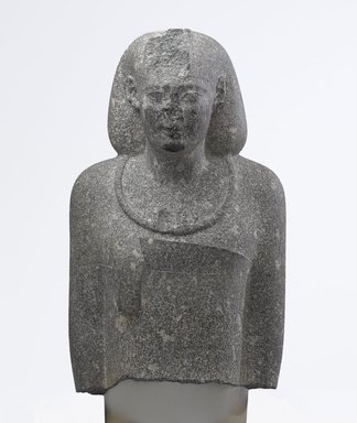 <em>Egyptian Man in a Persian Costume</em>, ca. 343-332 B.C.E. Granite, 31 1/8 x 17 1/2 x 11 1/8 in., 134.26kg (79 x 44.5 x 28.3 cm, 296 lb.). Brooklyn Museum, Gift of Mr. and Mrs. Thomas S. Brush, 71.139. Creative Commons-BY (Photo: Brooklyn Museum, 71.139_front_PS9.jpg)