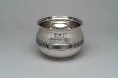 Tiffany & Company (American, founded 1853). <em>Slop Bowl</em>, ca. 1868. Silver, 4 x 5 5/16 x 5 5/16 in. (10.2 x 13.5 x 13.5 cm). Brooklyn Museum, Gift of Eleanor Keveney in memory of Clarence A. Pratt, 71.144.4. Creative Commons-BY (Photo: Brooklyn Museum, 71.144.4_front.jpg)