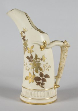 Worcester Royal Porcelain Co. (founded 1751). <em>Pitcher</em>, ca. 1886. Porcelain, 9 x 5 7/8 x 3 3/4 in.  (22.9 x 14.9 x 9.5 cm). Brooklyn Museum, Gift of Mr. and Mrs. Tracy Voorhees, 71.146.2. Creative Commons-BY (Photo: Brooklyn Museum, 71.146.2_PS5.jpg)