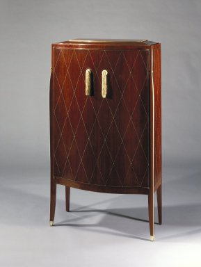 Emile-Jacques Ruhlmann (French, 1879-1933). <em>Chiffonier</em>, ca. 1923. Kingwood veneer with ivory inlay on mahogany, 52 1/2 x 29 3/4 x 11 1/4 in. (133.4 x 75.6 x 28.6 cm). Brooklyn Museum, Purchased with funds given by Joseph F. McCrindle, Mrs. Richard M. Palmer, Charles C. Paterson, Raymond Worgelt, and an anonymous donor, 71.150.2. Creative Commons-BY (Photo: Brooklyn Museum, 71.150.2_SL1.jpg)