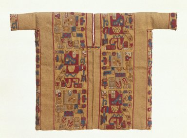 Wari. <em>Miniature Tunic</em>, 500-800 C.E. Cotton, camelid fiber, 8 11/16 x 12 1/2 in. (22.1 x 31.8 cm). Brooklyn Museum, Gift of Mr. and Mrs. Alastair B. Martin, the Guennol Collection, 71.180. Creative Commons-BY (Photo: Brooklyn Museum, 71.180_SL1.jpg)