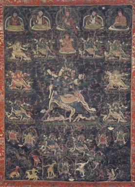 <em>Vajrakila</em>, 18th century. Color on canvas, 21 1/2 x 15 3/4 in. (54.6 x 40 cm). Brooklyn Museum, Gift of Alice Kaplan, 71.195 (Photo: Image courtesy of the Shelley and Donald Rubin Foundation, George Roos,er, 71.195.jpg)