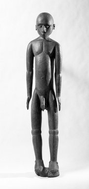 Ambrym. <em>Standing Life-Size Male Figure</em>, early 20th century. Wood Brooklyn Museum, Gift of Mr. and Mrs. Robert A. Levinson, 71.203. Creative Commons-BY (Photo: Brooklyn Museum, 71.203_front_bw.jpg)