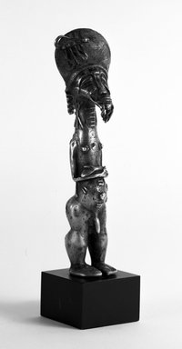Baule. <em>Standing Male Figure</em>, 20th century. Copper Alloy, Other: 9 1/4in. (23.5cm). Brooklyn Museum, Gift of Frederick E. Ossorio, 71.204.1. Creative Commons-BY (Photo: Brooklyn Museum, 71.204.1_bw.jpg)