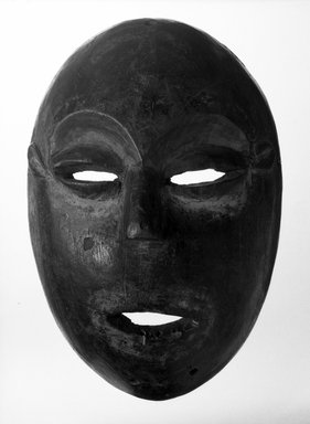 Lega. <em>Mask</em>, late 19th or early 20th century. Wood, 11 1/2 x 7 1/2 x 4 1/4 in. (29.2 x 19.0 x 10.8 cm). Brooklyn Museum, Gift of Elliot Picket, 71.22.5. Creative Commons-BY (Photo: Brooklyn Museum, 71.22.5_bw.jpg)