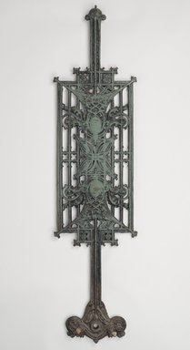 Louis Henry Sullivan (American, 1856-1924). <em>Baluster Panel, One of Set</em>, ca.1903. Cast iron, paint, 39 3/4 x 9 3/4 x 2 1/4 in. (101 x 24.8 x 5.7 cm). Brooklyn Museum, Gift of Carson, Pirie and Scott Co., 71.42.2. Creative Commons-BY (Photo: Brooklyn Museum, 71.42.2_PS9.jpg)