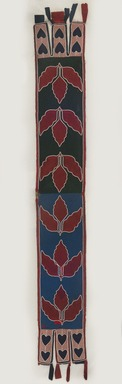 Delaware. <em>Bandolier</em>, mid-19th century. Beads, cotton, silk, 7 3/4 × 55 3/4 in. (19.7 × 141.6 cm). Brooklyn Museum, By exchange, 72.104. Creative Commons-BY (Photo: Brooklyn Museum, 72.104_PS11.jpg)
