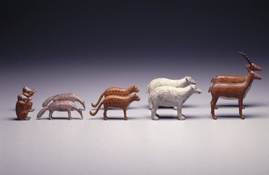 <em>Six Leopards</em>, ca. 1880. pine Brooklyn Museum, Gift of Mr. and Mrs. Alastair B. Martin, the Guennol Collection, 72.13.79a-f. Creative Commons-BY (Photo: Brooklyn Museum, 72.13.42a-b_72.13.58a-b_72.13.79a-b_72.13.72a-b_72.13.95a-b_SL.jpg)