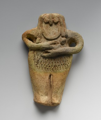 Ancient Near Eastern. <em>Female Figurine</em>, late 3rd millennium B.C.E. Terracotta, 5 1/2 x 3 9/16 x 13/16 in. (14 x 9 x 2 cm). Brooklyn Museum, Gift of Helena Simkhovitch in memory of her father, Vladimir G. Simkhovitch, 72.133. Creative Commons-BY (Photo: Brooklyn Museum, 72.133_PS2.jpg)
