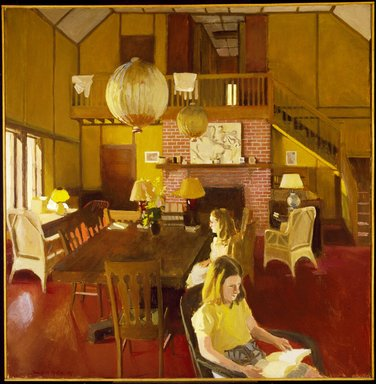 Fairfield Porter (American, 1907-1975). <em>Interior in Sunlight</em>, 1965. Oil on canvas, 45 x 45 in. (114.3 x 114.3 cm). Brooklyn Museum, Gift of Mr. and Mrs. John Koch, 72.135. © artist or artist's estate (Photo: Brooklyn Museum, 72.135_SL3.jpg)