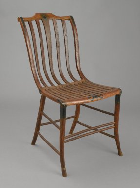 Samuel Gragg. <em>Side Chair</em>, ca. 1808-1820. Bentwood (ash and maple), Overall H.: 33 3/4 in. (85.7 cm). Brooklyn Museum, Gift of Mr. and Mrs. Charles Montgomery, 72.14. Creative Commons-BY (Photo: Brooklyn Museum, 72.14_PS6.jpg)