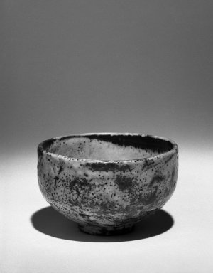 Kitaoji Rosanjin (Japanese, 1883-1959). <em>Tea Bowl</em>, ca. 20th century. Stoneware, white underglaze, red to deep orange mottled overglaze, 3 x 4 3/4 in. (7.6 x 12.1 cm). Brooklyn Museum, Gift of Bernice and Robert Dickes, 72.162.1. Creative Commons-BY (Photo: Brooklyn Museum, 72.162.1_bw.jpg)