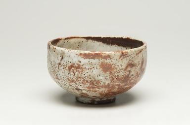 Kitaoji Rosanjin (Japanese, 1883-1959). <em>Tea Bowl</em>, ca. 20th century. Stoneware, white underglaze, red to deep orange mottled overglaze, 3 x 4 3/4 in. (7.6 x 12.1 cm). Brooklyn Museum, Gift of Bernice and Robert Dickes, 72.162.1. Creative Commons-BY (Photo: Brooklyn Museum, 72.162.1_view01_PS11-1.jpg)