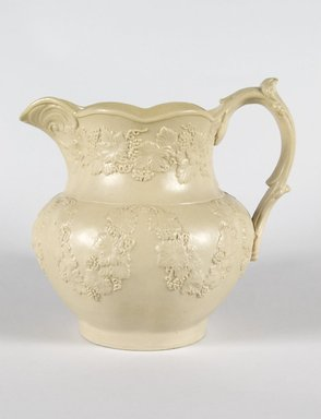 D. & J. Henderson. <em>Pitcher</em>, ca. 1830. Stoneware, 8 1/2 x 4 1/4 in. (21.6 x 10.8 cm). Brooklyn Museum, Gift of Mrs. Ben P. Grant in memory of Dr. and Mrs. Henry Fleming Payne, 72.184.2. Creative Commons-BY (Photo: Brooklyn Museum, 72.184.2_PS5.jpg)