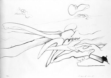 Richard Hunt (American, born 1935). <em>Composition</em>, 1969. Lithograph, 21 3/4 x 30 5/8 in. (55.2 x 77.8 cm). Brooklyn Museum, Bristol-Myers Fund, 72.34.2. © artist or artist's estate (Photo: Brooklyn Museum, 72.34.2_bw.jpg)