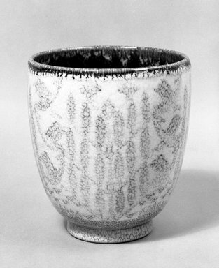 Rookwood Pottery Company (1880-1967). <em>Vase</em>, 1929. Glazed earthenware, 8 x 7 3/8 in. (20.3 x 18.7 cm). Brooklyn Museum, H. Randolph Lever Fund, 72.40.15. Creative Commons-BY (Photo: Brooklyn Museum, 72.40.15_bw.jpg)