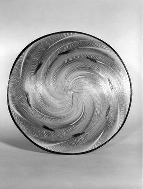 Frederick Carder (American, born England, 1863-1963). <em>Roundel</em>, ca. 1920. Opalescent glass, 1/8 x 17 1/2 x 17 7/8 in. (0.3 x 44.5 x 45.4 cm). Brooklyn Museum, H. Randolph Lever Fund, 72.40.4. Creative Commons-BY (Photo: Brooklyn Museum, 72.40.4_bw.jpg)