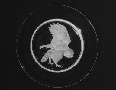 Walter Dorwin Teague (American, 1883-1960). <em>Audubon Plate</em>, ca. 1933. Glass, 3/4 x 10 x 10 in. (1.9 x 25.4 x 25.4 cm). Brooklyn Museum, H. Randolph Lever Fund, 72.40.6. Creative Commons-BY (Photo: Brooklyn Museum, 72.40.6_bw.jpg)