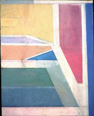 Richard Diebenkorn (American, 1922-1993). <em>Ocean Park No. 27</em>, 1970. Oil and charcoal on canvas, 100 × 80 in. (254 × 203.2 cm). Brooklyn Museum, Gift of The Roebling Society and Mr. and Mrs. Charles H. Blatt and Mr. and Mrs. William K. Jacobs, Jr., 72.4. © artist or artist's estate (Photo: Brooklyn Museum, 72.4_slide_SL3.jpg)