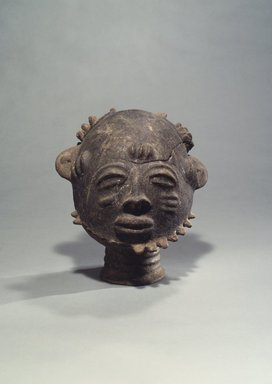 Akan. <em>Funerary Portrait Head</em>, 18th century. Terracotta, 12 1/4 x 11 1/2 in. (31.0 x 29.3 cm). Brooklyn Museum, Gift of Marcia and John Friede, 73.107.6. Creative Commons-BY (Photo: Brooklyn Museum, 73.107.6.jpg)
