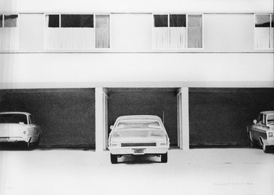 Robert Bechtle (American,1932-2020). <em>68 Nova</em>, 1972. Lithograph on paper, sheet: 24 x 34 in. (61 x 86.4 cm). Brooklyn Museum, Designated Purchase Fund, 73.11a. © artist or artist's estate (Photo: Brooklyn Museum, 73.11a_bw.jpg)
