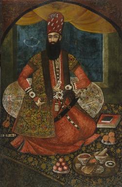 <em>Portrait of an Emir</em>, 1855. Oil on cotton, 59 x 37 in. (149.9 x 94 cm). Brooklyn Museum, Gift of Mr. and Mrs. Charles K. Wilkinson, 73.145 (Photo: Brooklyn Museum, 73.145_SL1.jpg)