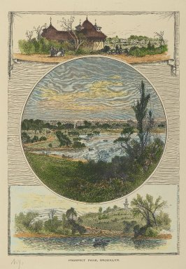 J. D. Woodward. <em>Prospect Park, Brooklyn</em>, 19th century. Hand-colored engraving on paper, sheet: 13 x 9 7/8 in. (33 x 25.1 cm). Brooklyn Museum, Gift of Mrs. Tracy S. Voorhees, 73.162 (Photo: Brooklyn Museum, 73.162_PS2.jpg)