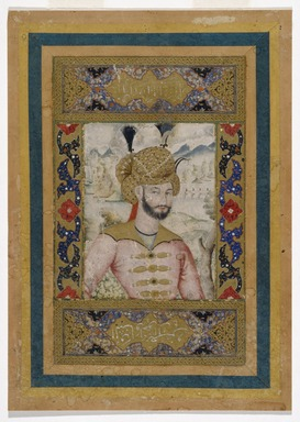 Unknown. <em>Shah Abbas II (reigned 1642-1667)</em>, 17th century. Watercolor and gold on paper, 9 3/4 x 6 1/2 in. (24.8 x 16.5 cm). Brooklyn Museum, Gift of Mr. and Mrs. Charles K. Wilkinson, 73.167.1 (Photo: Brooklyn Museum, 73.167.1_SL1.jpg)
