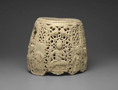 <em>Top Section of a Water Jug</em>, late 12th-early 13th century. Ceramic; earthenware, pierced decoration, 12 x 14 1/4 x 14 1/4 in. (30.5 x 36.2 x 36.2 cm). Brooklyn Museum, Gift of The Roebling Society, 73.30.6. Creative Commons-BY (Photo: Brooklyn Museum, 73.30.6_PS2.jpg)