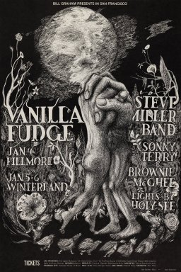 Lee Conklin (American, born 1941). <em>[Untitled] (Vanilla Fudge/Steve Miller Band)</em>, 1967. Offset lithograph on paper, sheet: 21 x 14 1/16 in. (53.3 x 35.7 cm). Brooklyn Museum, Designated Purchase Fund, 73.39.102. © artist or artist's estate (Photo: Brooklyn Museum, 73.39.102_PS3.jpg)