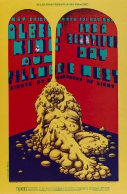 Lee Conklin (American, born 1941). <em>[Untitled] (Albert King/Its A Beautiful Day)</em>, 1969. Offset lithograph on paper, sheet: 21 3/16 x 13 7/8 in. (53.8 x 35.2 cm). Brooklyn Museum, Designated Purchase Fund, 73.39.171. © artist or artist's estate (Photo: Brooklyn Museum, 73.39.171_PS3.jpg)