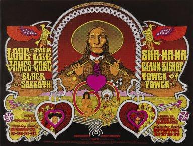 Norman Orr (American). <em>[Untitled] (James Gang/Black Sabbath)</em>, 1970. Offset lithograph on paper, sheet: 21 1/4 x 28 1/8 in. (54 x 71.4 cm). Brooklyn Museum, Designated Purchase Fund, 73.39.252. © artist or artist's estate (Photo: Brooklyn Museum, 73.39.252_PS3.jpg)