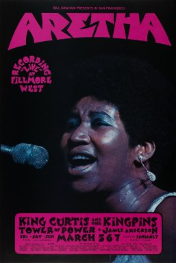 David Singer (American, born 1941). <em>[Untitled] (Aretha/King Curtis and the Kingpins)</em>, 1971. Offset lithograph on paper, sheet: 21 x 14 1/8 in. (53.3 x 35.9 cm). Brooklyn Museum, Designated Purchase Fund, 73.39.265. © artist or artist's estate (Photo: Brooklyn Museum, 73.39.265_PS3.jpg)