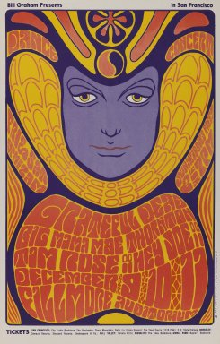 Wes Wilson (American, 1937-2020). <em>[Untitled] (Grateful Dead)</em>, 1966. Offset lithograph on paper, sheet: 21 15/16 x 14 in. (55.7 x 35.6 cm). Brooklyn Museum, Designated Purchase Fund, 73.39.41. © artist or artist's estate (Photo: Brooklyn Museum, 73.39.41_PS3.jpg)