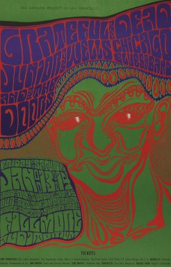 Wes Wilson (American, born 1937). <em>[Untitled] (Grateful Dead/Junior Wells/Chicago...)</em>, 1967. Offset lithograph on paper, sheet: 21 13/16 x 14 in. (55.4 x 35.6 cm). Brooklyn Museum, Designated Purchase Fund, 73.39.47. © artist or artist's estate (Photo: Brooklyn Museum, 73.39.47_PS3.jpg)