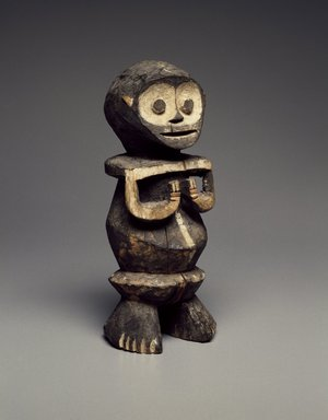 Mambila. <em>Guardian Figure (Tadep)</em>, late 19th or early 20th century. Wood, pigment, 8 1/2 x 3 3/4 x 3 in. (21.6 x 9.5 x 7.6 cm). Brooklyn Museum, Gift of Mr. and Mrs. Joseph Gerofsky, 73.9.1. Creative Commons-BY (Photo: Brooklyn Museum, 73.9.1_SL3.jpg)