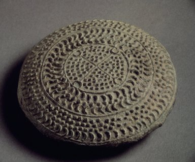<em>Bell</em>, 668-935. Earthenware, Diameter: 3 1/8 in. (8 cm). Brooklyn Museum, Gift of Robert Sistrunk, 74.105. Creative Commons-BY (Photo: Brooklyn Museum, 74.105.jpg)