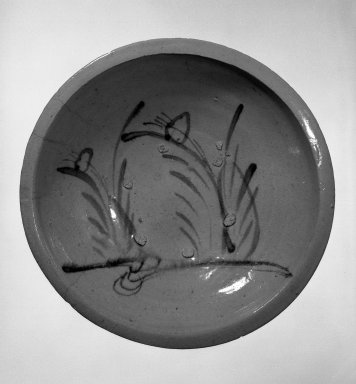 <em>Herring Plate</em>, ca. 1840. Glazed stoneware; Seto ware, 3 5/8 x 14 1/4 in. (9.2 x 36.2 cm). Brooklyn Museum, Designated Purchase Fund, 74.108.2. Creative Commons-BY (Photo: Brooklyn Museum, 74.108.2_bw.jpg)