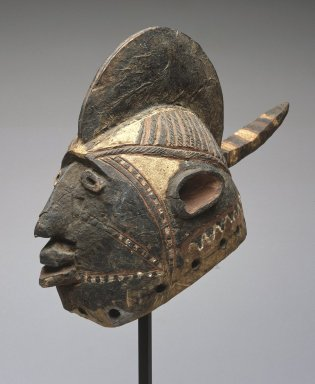 Mossi. <em>Wan-balinga Mask</em>, early 20th century. Wood, pigment, 10 x 6 x 14 1/2in. (25.4 x 15.2 x 36.8cm). Brooklyn Museum, Gift of Marcia and John Friede, 74.121.4. Creative Commons-BY (Photo: Brooklyn Museum, 74.121.4_SL1.jpg)