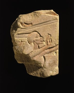 Egyptian. <em>Detail from a Row of Foreigners</em>, ca. 1353-1336 B.C.E. Sandstone, 9 3/16 x 7 3/16 x 2 7/16 in. (23.3 x 18.2 x 6.2 cm). Brooklyn Museum, Gift of Edith and Milton Lowenthal, 74.154. Creative Commons-BY (Photo: Brooklyn Museum, 74.154_SL1.jpg)