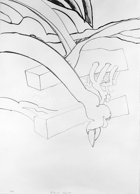Richard Hunt (American, born 1935). <em>Untitled (XVII)</em>, ca. 1970. Lithograph, black and white, 30 1/8 x 21 7/8 in. (76.5 x 55.6 cm). Brooklyn Museum, Gift of Mr. and Mrs. Samuel Dorsky, 74.178.35. © artist or artist's estate (Photo: Brooklyn Museum, 74.178.35_bw.jpg)