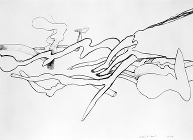 Richard Hunt (American, born 1935). <em>Untitled</em>, ca. 1970. Lithograph, black and white, 22 x 29 7/8 in. (55.9 x 75.9 cm). Brooklyn Museum, Gift of Mr. and Mrs. Samuel Dorsky, 74.178.38. © artist or artist's estate (Photo: Brooklyn Museum, 74.178.38_bw.jpg)