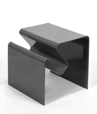 Andrew Ivar Morrison (American, born 1939). <em>Magazine Table/Rack</em>, ca. 1965. Molded plastic, 17 3/4 x 18 x 17 1/2 in. (45.1 x 45.7 x 44.5 cm). Brooklyn Museum, Gift of Stendig, Inc., 74.194.1. Creative Commons-BY (Photo: Brooklyn Museum, 74.194.1_bw.jpg)