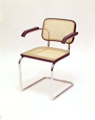 Bauhaus. <em>Armchair</em>, Designed ca. 1928; manufactured ca. 1974. Chromium, nickel-plated steel, Overall Height: 30 3/4 in. (78.1 cm). Brooklyn Museum, Gift of Stendig, Inc., 74.194.2. Creative Commons-BY (Photo: Brooklyn Museum, 74.194.2_SL4.jpg)