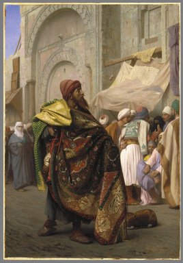 Jean-Léon Gérôme (French, 1824-1904). <em>The Carpet Merchant of Cairo</em>, 1869. Oil on canvas, 31 7/8 x 22 in. (81 x 55.9 cm). Brooklyn Museum, Gift of Joseph Gluck, 74.208 (Photo: Brooklyn Museum, 74.208_SL1.jpg)