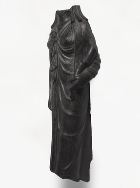 <em>Isis</em>, 1st century C.E. Basalt, 38 1/2 × 15 × 13 in., 231 lb. (97.8 × 38.1 × 33 cm, 104.78kg). Brooklyn Museum, Charles Edwin Wilbour Fund, 74.220. Creative Commons-BY (Photo: , 74.220_threequarter_PS9.jpg)