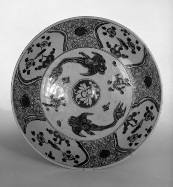 <em>Plate</em>, ca. 1600. Swatow ware